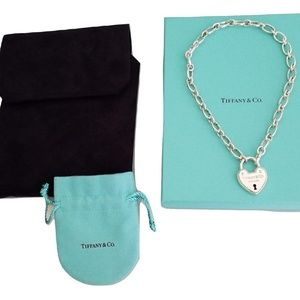 Tiffany & Co Lock Charm All links open necklace
